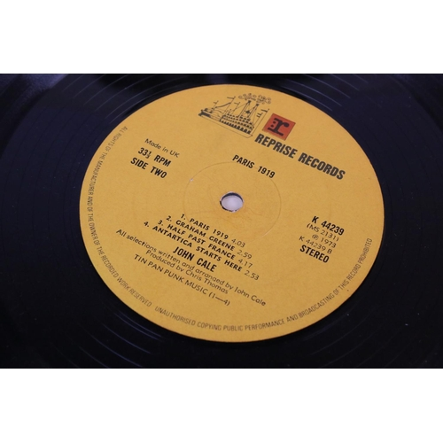 87 - Vinyl - John Cale Paris 1919 LP on Reprise X 44239, no lyric insert, sleeve and vinyl vg+