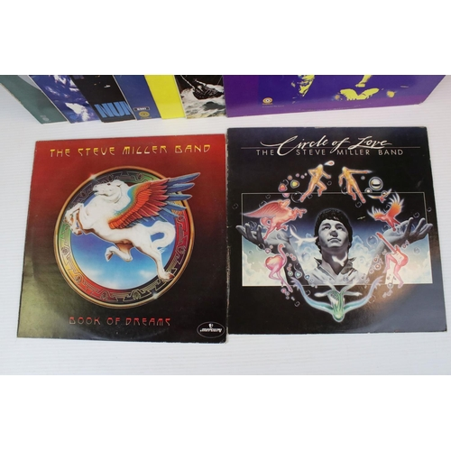 175 - Vinyl - 12 Steve Miller Band LPs to include Children of the Future on Capitol SFT18, self titled ST2...