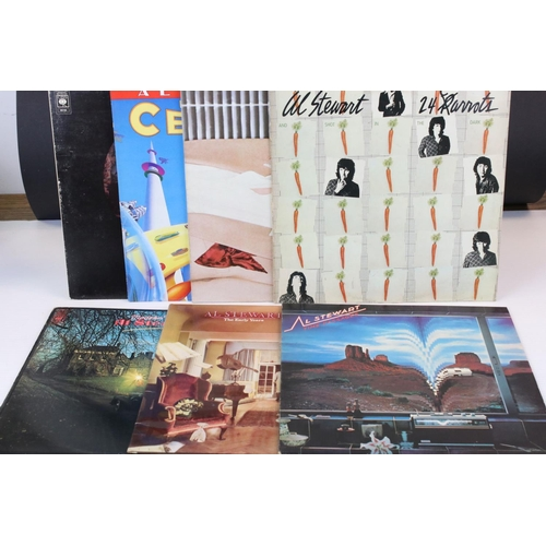 177 - Vinyl - Eight Al Stewart LPs to include 24 Carrots, Live, Last Days of the Century, Past Present & F...