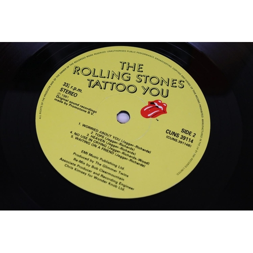 487 - Vinyl - Rolling Stones 3 LP's to include Tattoo You (CUNS 39114), Emotional Rescue (CUN 39111), Get ...