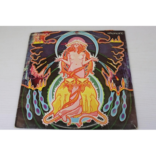 490 - Vinyl - Hawkwind Space Ritual (UAD 60037/8) fold out sleeve, orange patterned inners, fold out inser...