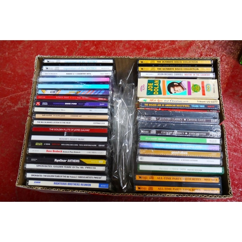 567 - CD's - Over 300 CDs spanning the genres and decades to include many various compilations of various ...