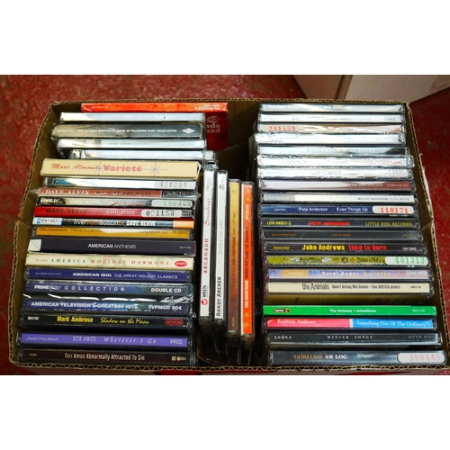 568 - CD's - Over 300 CDs spanning the genres and decades to include many Country examples, Kings of Leon,...