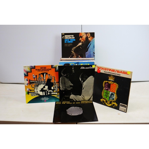195 - Vinyl - Jazz collection of approx 40 LP's including Gerry Mulligan, Duke Ellington, Clifford Brown, ...