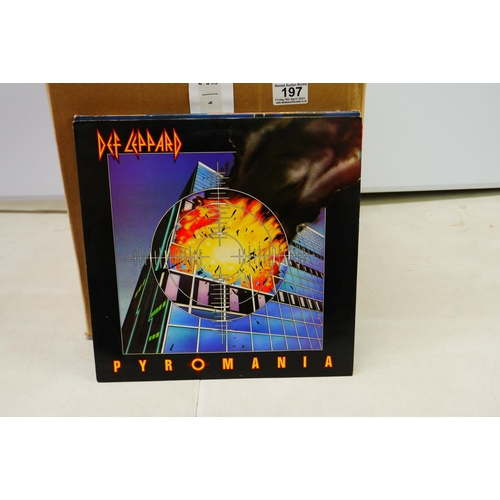 197 - Vinyl - Rock / Metal A first class collection of approx 70 LP's to include Ten Years After, Boston, ...