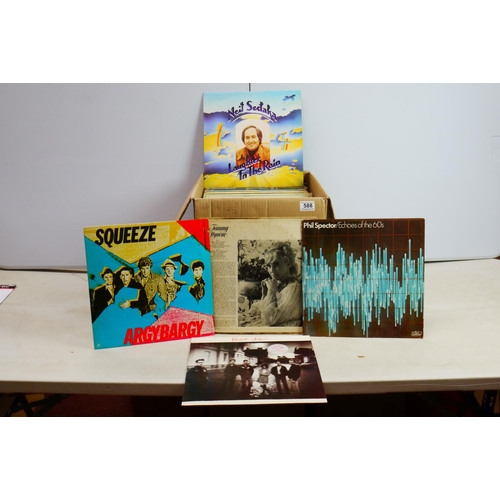 588 - Vinyl - Collection of over 80 Rock & Pop LP's spanning decades including Wings, Simple Minds, Deacon...