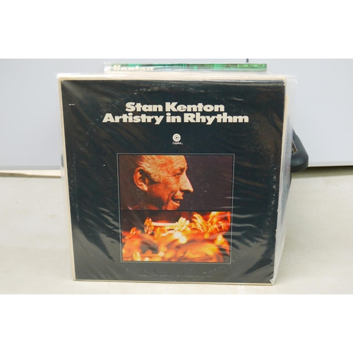 59 - Vinyl - Stan Kenton collection of 17 LP's including some live performances, all in poly protective s...