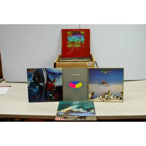 591 - Vinyl - Collection of over 50 Rock & Pop LP's including Wishbone Ash, Uriah Heep, Yes, Tom Petty and...