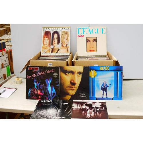 595 - Vinyl - Collection of approx 150 Rock & Pop LP's including AC/DC, Wings, Human League, Living Colour...