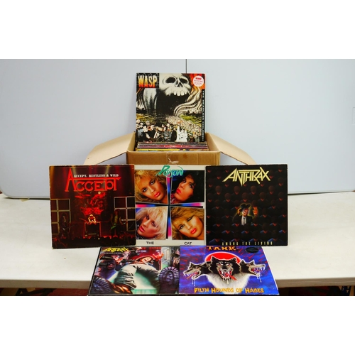 613 - Vinyl - Around 50 Rock LPs to include Guns n Roses, Aerosmtih, Alice Cooper etc, sleeves vary, vinyl...