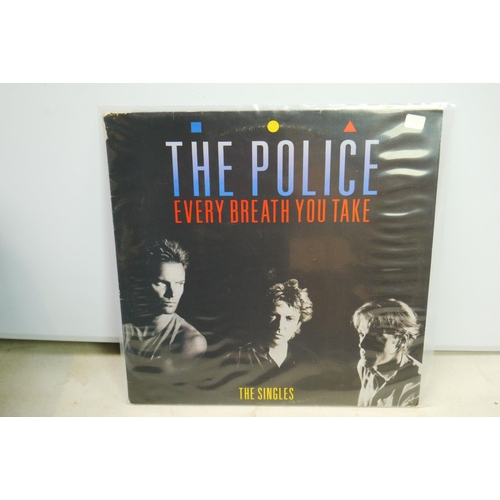 825 - Vinyl - Rock & Pop collection of approx 30 LP's including The Police, XTC, Joe Jackson, The Pretende...