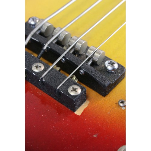 751 - Guitar - A rare Bartell Honer Fretless bass guitar.  Original label is readable through the F hole