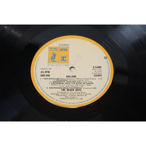 395 - Vinyl - Beach Boys 3 LP's to include Holland (K 54008) includes bonus 45, Surfs Up (RS 6453) Warner/...