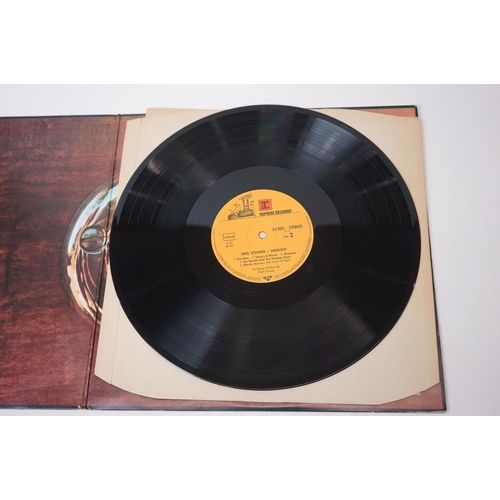 398 - Vinyl - Neil Young 2 LP's to include Harvest (54005) heavy card sleeve with inserts, and After The G...