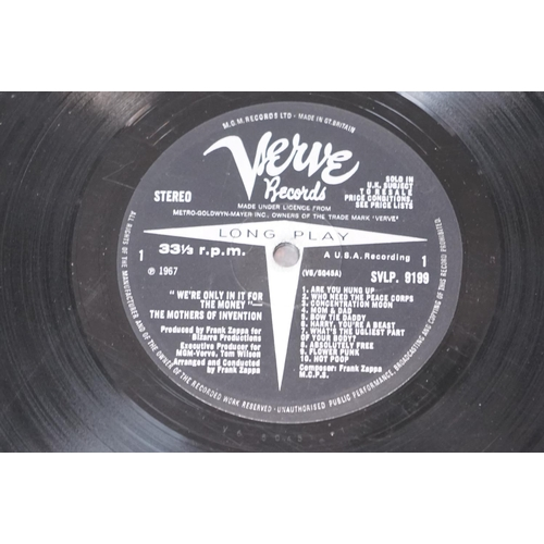 467 - Vinyl - Mothers Of Invention We're Only In It For The Money (Verve SVLP 9199) black/silver label wit...