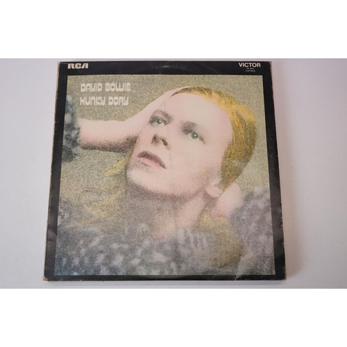 468 - Vinyl - David Bowie 8 LP's to include Hunky Dory, Ziggy Stardust, Aladdin Sane, Diamond Dogs, Pin Up...