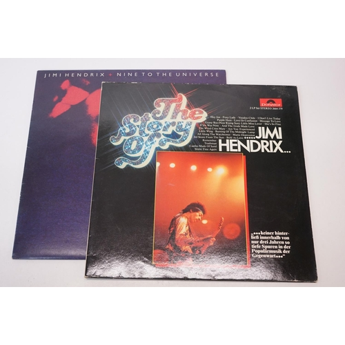 472 - Vinyl - Two Jimi Hendrix LPs to include The Story of on Polydor 3664379 German pressing and Nine To ...