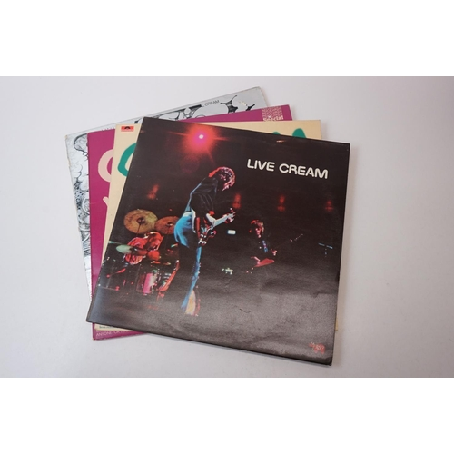 149 - Vinyl - Four Cream LPs to include Live Cream, Cream Volumes 1 & 2 on Polydor 2384067 and RSC 2479701...