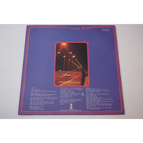 156 - Vinyl - Nick Drake Bryter Layter on Island ILPS9134 blue rim palm tree label, textured sleeve, third...