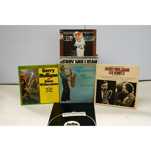 56 - Vinyl - Gerry Mulligan collection of over 40 LP's spanning decades and including liver performances ...