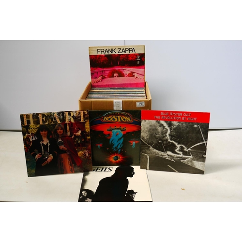 70 - Vinyl - Collection of around 70 Rock LPs to include Boston, Ian Hunter, The Animals etc, sleeves and...
