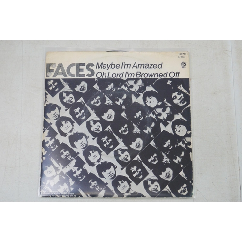 821 - Vinyl - Rock & Pop collection of approx 25 45's in picture sleeves to include The Faces, Steppenwolf...