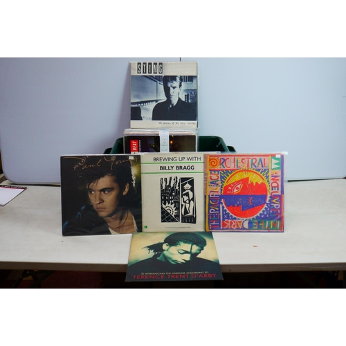 824 - Vinyl Pop, Indie, 80's collection of approx 40 LP's to include The Style Council, Roachford, The Pol...