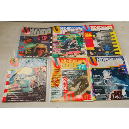 732 - Music - 15 Underground Magazines with 2 cassette tapes, features New Order, Pulp, The Fall etc