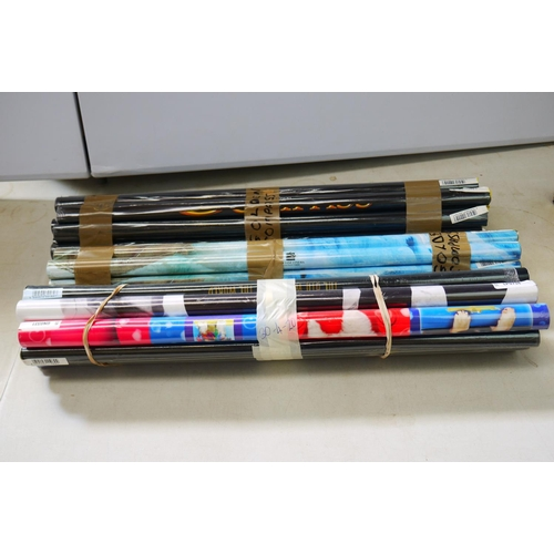 758 - Posters - Around 70 rolled posters, various subjects featuring music, film and computing, mainly sea...