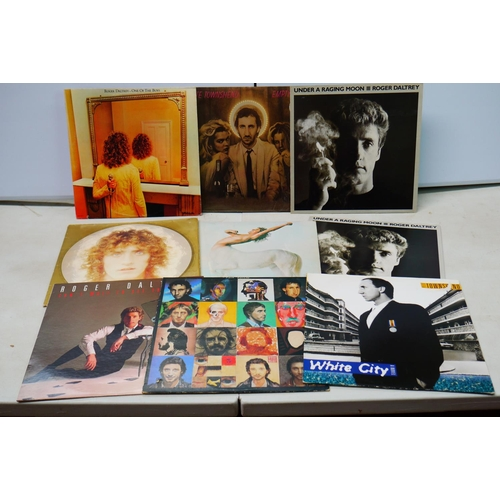 906 - Vinyl - Nine The Who members LPs to include Peter Townsend Empty Glass, Roger Daltrey Under A Raging...