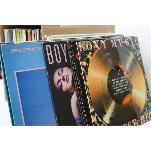 602 - Vinyl - Around 130 LPs mainly Rock and Pop to include Roxy Music, Tangerine Dream, Supertramp etc,  ...