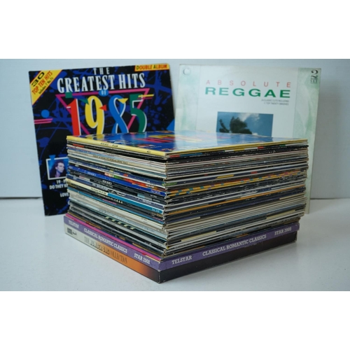 837 - Vinyl - Pop collection of over 40 LP compilations including Greatest Hits of '83, Midnight Hustle, A...