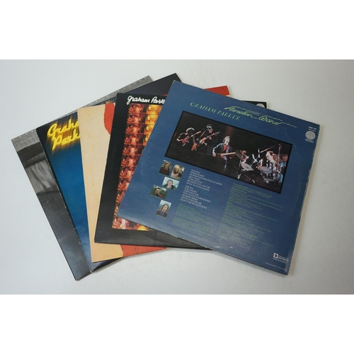 100 - Vinyl - Six Graham Parker LPs to include Howlin' Wind, Heat Treatment, Stick to Me, The Up Escalator...