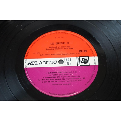 104 - Vinyl - Two Led Zeppelin LPs to include One K40031 and Two K40037, both green/orange Atlantic labels...