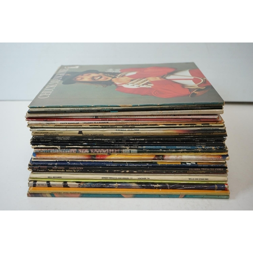 124 - Vinyl - Around 30 Jazz LPs to include Milt Jackson, Bob James, Buddy Miles etc, sleeves and vinyl vg