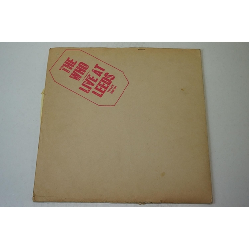 48 - Vinyl - The Who Live At Leeds (Track 2406 001) red lettering to sleeve.  7 inserts including High Nu...