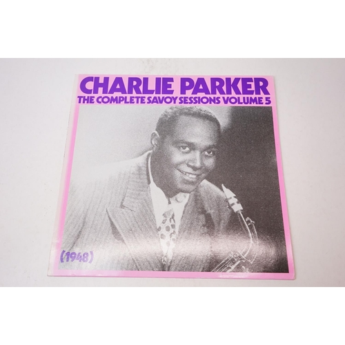 57 - Vinyl - Charlie Parker LP's x 4 to include Bird Is Free (CRS 2003), The Definitive Vol 4 (Verve 2356...