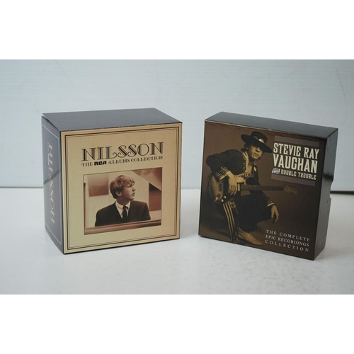 638 - CDs - Two Box Sets to include Nilsson RCA Albums Collection & Stevie Ray Vaughan Double Trouble, bot...