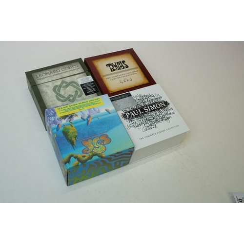 640 - CDs - Four CD Box Sets to include Yes The Studio Albums 1969-1987, Paul Simon The Complete Albums Co...
