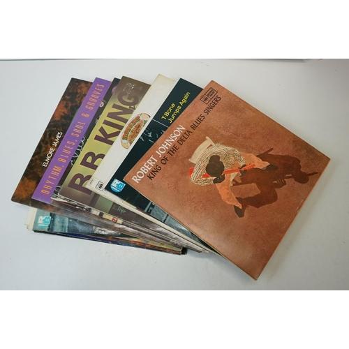91 - Vinyl - 15 Blues LPs to include T Bone Walker, Robert Johnson, BB King, Elmore James, Howlin' Wolf (...