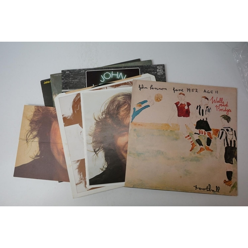 108 - Vinyl - Five John & Julian Lennon LPs to include Imagine and Walls and Bridges plus a Double Fantasy...