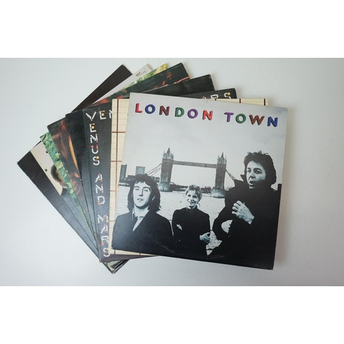 132 - Vinyl - Eight Wings LPs to include London Town, At the Speed of Sound, Venus and Mars, Band on the R...