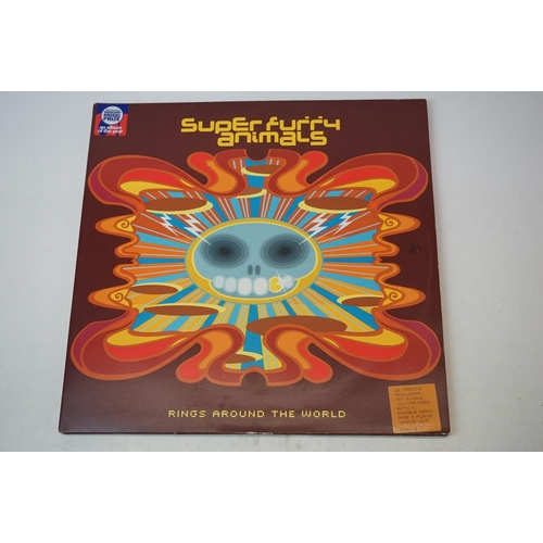 23 - Vinyl - Super Furry Animals Rings Around The World LP on Epic 502413 1,  with the 7