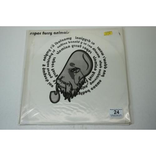 24 - Vinyl - Super Furry Animals MWNG LP PLC03LP, white LP, with original outer sleeve and insert, vinyl ...