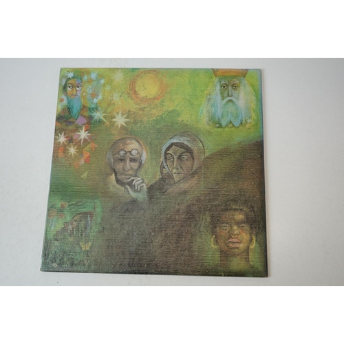 458 - Vinyl - King Crimson In The Wake of Poseidon LP on Island ILPS9127 textured sleeve with EJ Day group...