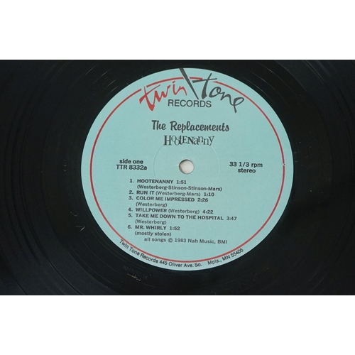 816 - Vinyl - The Replacements 2 LP's to include Hootenanny (TTR 8332) and Don't Tell A Soul (Sire 125831)...