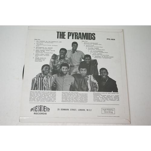 14 - Vinyl - The Pyramids self titled LP on President PTL1021, with inner sleeve, sleeve vg+, vinyl vg