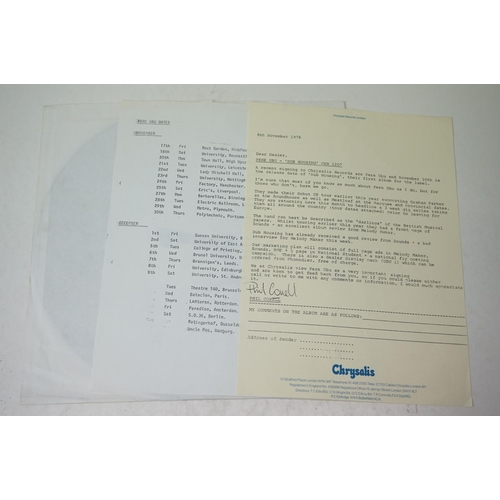 15 - Vinyl - Pere Ubu Dub Housing (CHR 1207) advance promo white label copy.  Includes Chrysalis letter d...