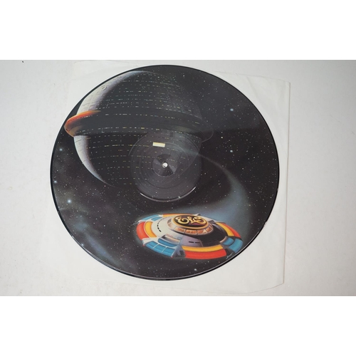 883 - Vinyl - Collection of 45s and picture / coloured vinyl to include ltd edn ELO A New World Record red...