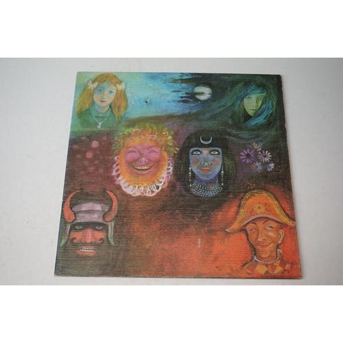892 - Vinyl - King Crimson In The Wake of Poseidon LP on Island gatefold sleeve, pink 'i' logo label, slee...